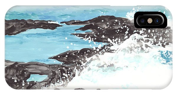 Breaking Wave On Lava Rock IPhone Case