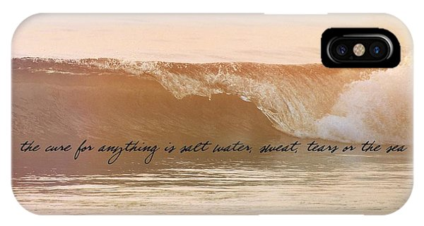Breaking Wave Quote IPhone Case