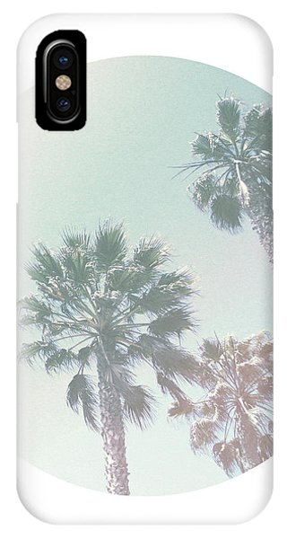 Pastel iPhone Case - Breezy Palm Trees- Art By Linda Woods by Linda Woods