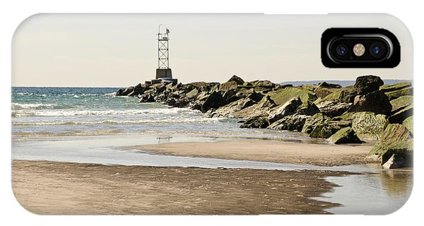 Breezy Point Jetty With Pools IPhone Case