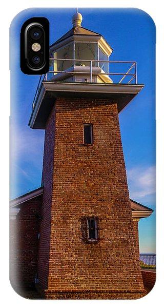 Santa Cruz Surfing iPhone Case - Brick Lighthouse by Garry Gay