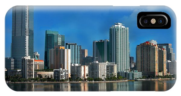 Florida iPhone Case - Brickell Skyline 2 by Bibi Rojas