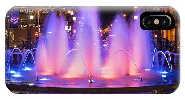 Ok iPhone Case - Bricktown Fountain by Ricky Barnard