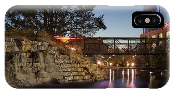 Ok iPhone Case - Bricktown Waterfall by Ricky Barnard