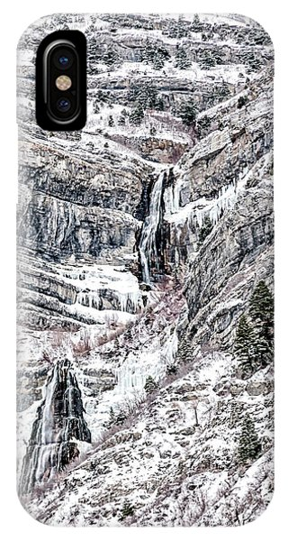 IPhone Case featuring the photograph Bridal Veil Falls Canvas Print,photographic Print,art Print,framed Print,greeting Card,iphone Case,s by David Millenheft