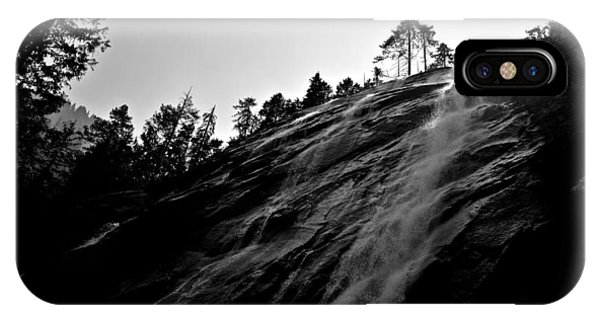 Bridal Veil Falls In Black And White IPhone Case