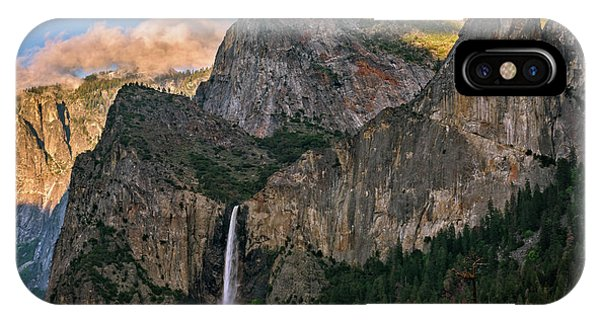 Bridalveil Falls From Tunnel View IPhone Case