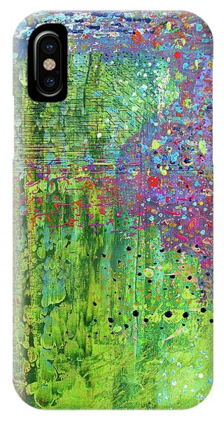 Abstract Green And Pink IPhone Case