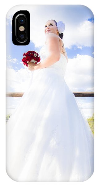 Luminous Body iPhone Case - Bride In White Wedding Dress by Jorgo Photography - Wall Art Gallery