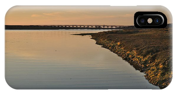 Bridge And Ria At Sunset In Quinta Do Lago IPhone Case