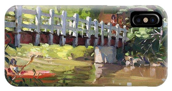 Creek iPhone Case - Bridge At Ellicott Creek Park by Ylli Haruni