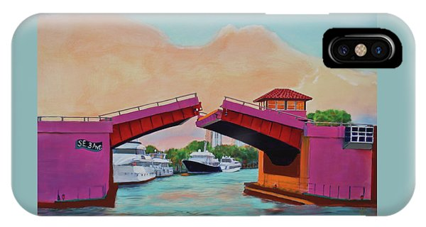 IPhone Case featuring the painting Bridge At Se 3rd by Deborah Boyd