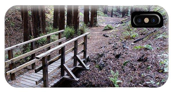 Bridge In The Redwoods IPhone Case