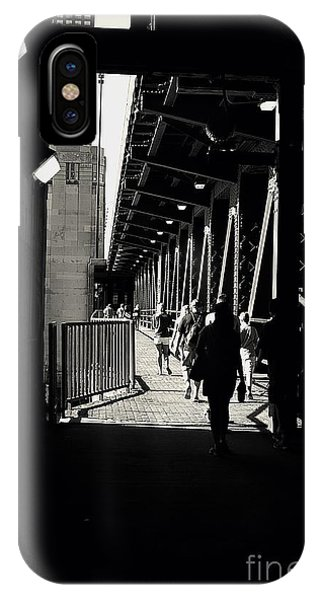 Bridge - Lower Lake Shore Drive At Navy Pier Chicago. IPhone Case