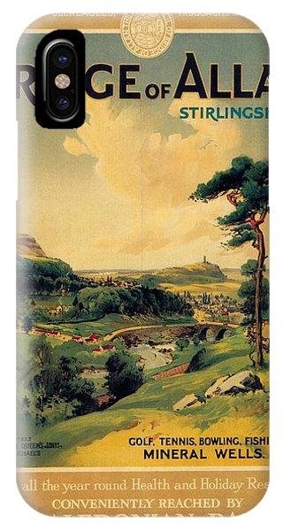 Advertising iPhone Case - Bridge Of Allan, Stirlingshire - The Caledonian Railway - Retro Travel Poster - Vintage Poster by Studio Grafiikka