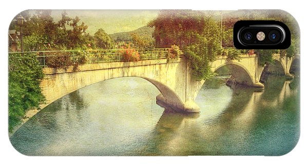 Bridge Of Flowers  IPhone Case