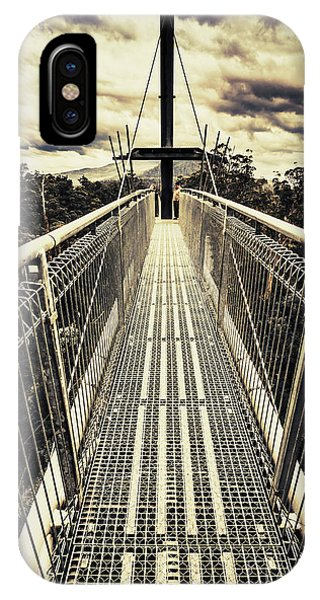 Hiking Path iPhone Case - Bridge Of Suspension  by Jorgo Photography - Wall Art Gallery