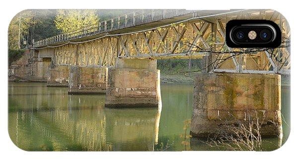 Bridge Over Calm Water IPhone Case