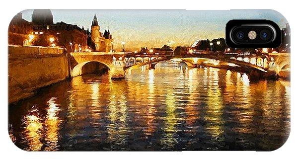 Bridge Over The Seine IPhone Case