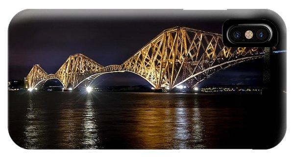 Bridge Over Water Lights. IPhone Case
