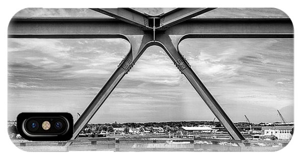 Bridge View In Portsmouth Nh IPhone Case