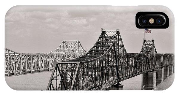 Mississippi River iPhone Case - Bridges At Vicksburg Mississippi by Don Spenner
