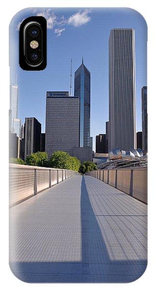 Chicago Skyline Art iPhone Case - Bridgeway To Chicago by Steve Gadomski