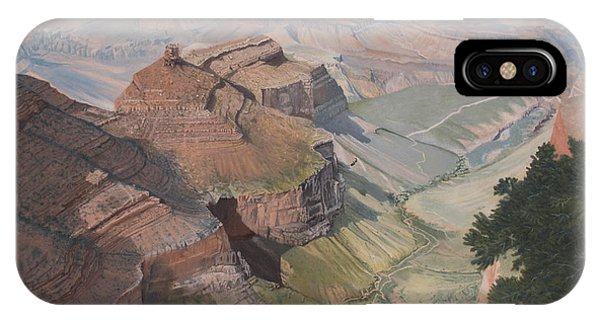Bright Angel Trail Looking North To Plateau Point, Grand Canyon IPhone Case