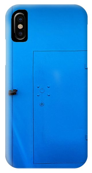 Bright Blue Locked Door And Padlock IPhone Case