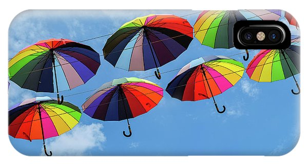 Bright Colorful Umbrellas  IPhone Case