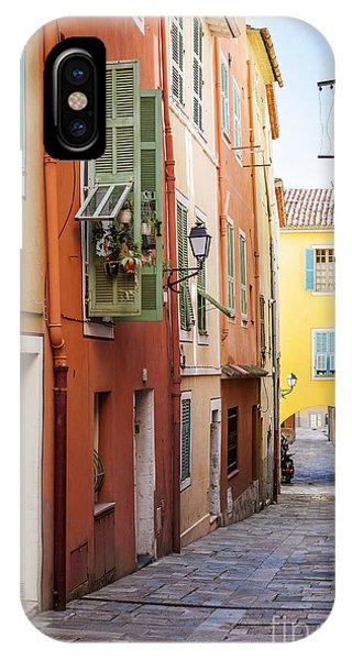 French Riviera iPhone Case - Bright Houses On Old Street In Villefranche-sur-mer by Elena Elisseeva