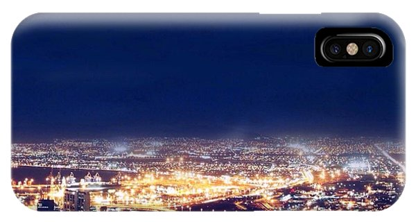 IPhone Case featuring the digital art Bright Lights Big City by Mark Taylor