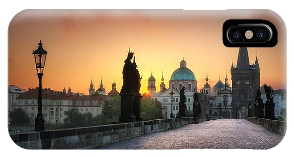 Bright Morning In Prague, Czech Republic IPhone Case
