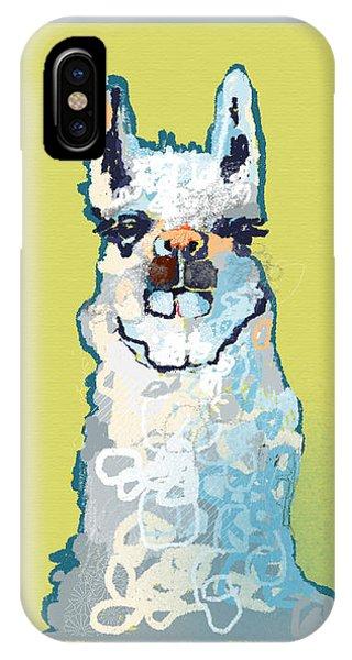 Llama iPhone Case - Bright Mustard Llama by Niya Christine