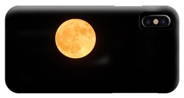 Bright Orange Moon IPhone Case