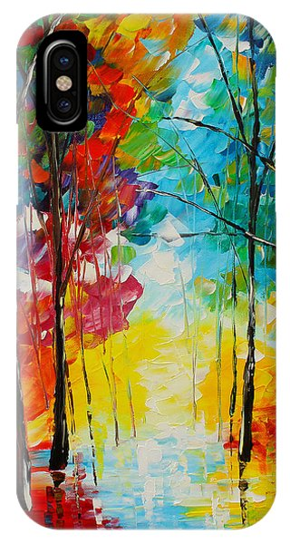 IPhone Case featuring the painting Bright Path by Kevin  Brown