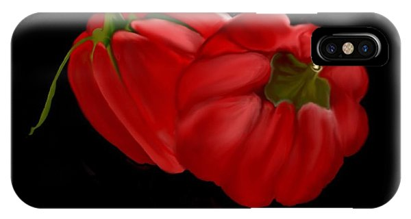 Bright Red Peppers IPhone Case