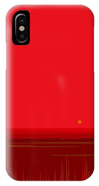 Bright Red Sunset Landscape IPhone Case