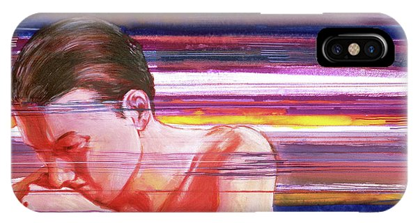 IPhone Case featuring the painting Bright Silence by Rene Capone