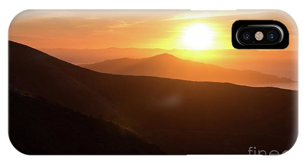 Bright Sun Rising Over The Mountains IPhone Case