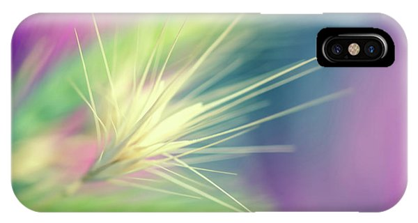Closeup iPhone Case - Bright Weed by Terry Davis