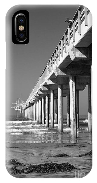 Scripps Pier iPhone Case - Bright White Scripps  by Ana V Ramirez