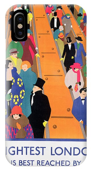Commute iPhone Case - Brightest London Is Best Reached By Underground by Horace Taylor