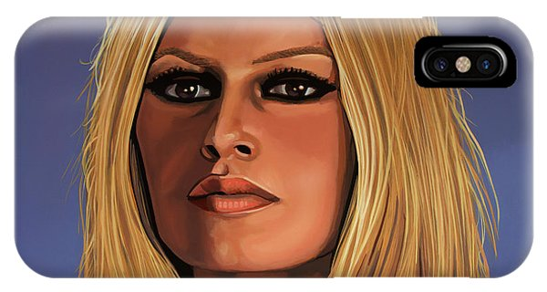 Rights iPhone Case - Brigitte Bardot Painting 3 by Paul Meijering