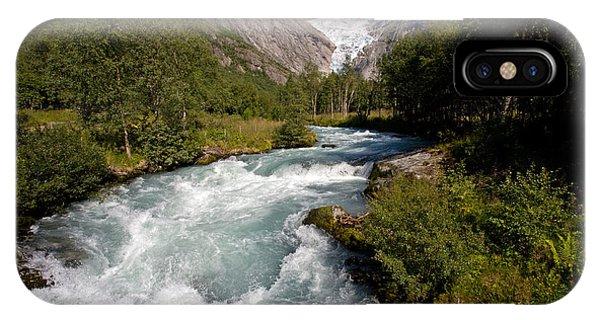 Briksdal Glacier Melting Waters IPhone Case