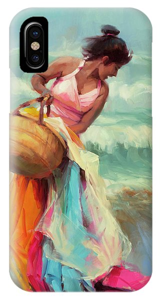 Coast iPhone Case - Brimming Over by Steve Henderson