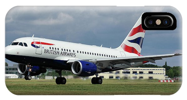 British Airways A318-112 G-eunb IPhone Case