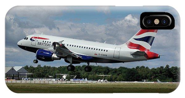 British Airways Airbus A318-112 G-eunb IPhone Case
