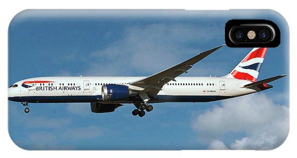 0 iPhone Case - British Airways Boeing 787-9 Dreamliner by Smart Aviation