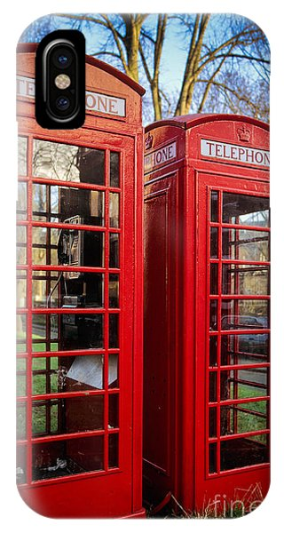 Antiquated iPhone Case - British Phonebooths by Inge Johnsson